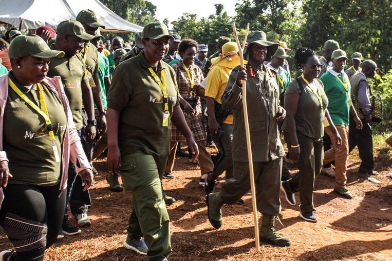 President of Uganda starts six-day trek through the jungle