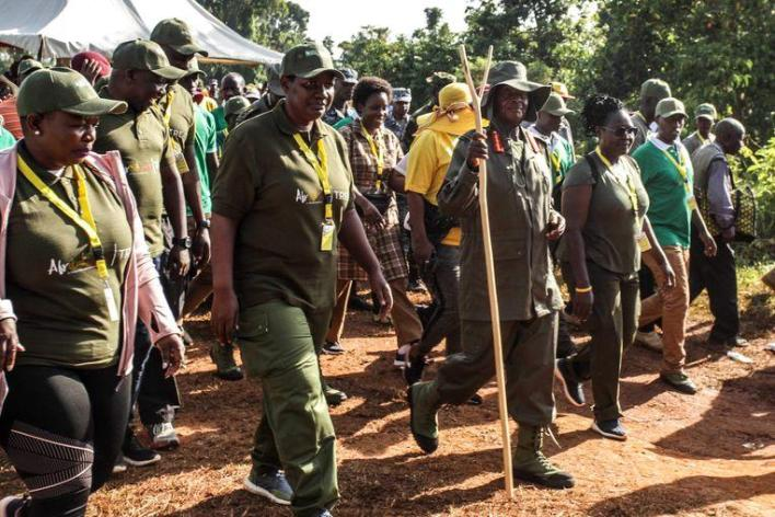President of Uganda starts six-day trek through the jungle