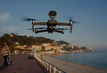Drone urges people to stay indoors in France