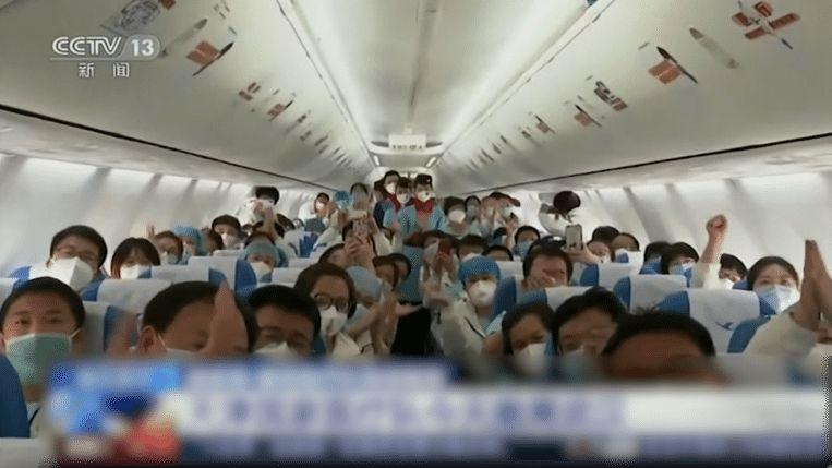Tears as Medical teams leave Wuhan, the epicenter of Corona