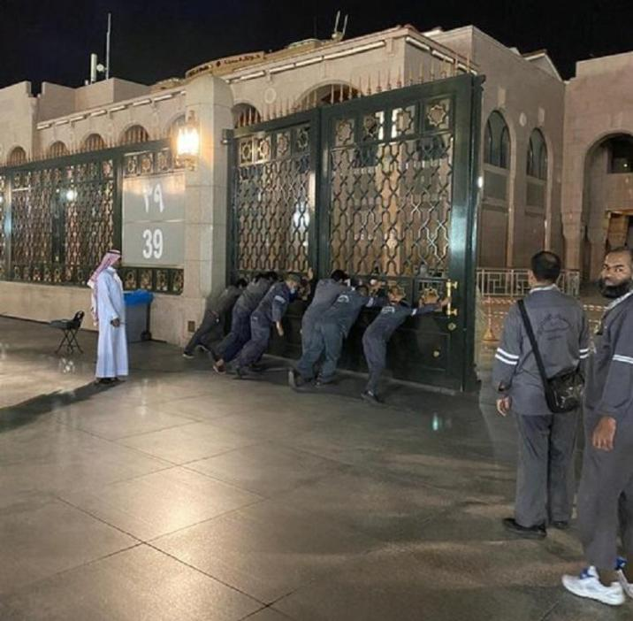 Mosque closed for the first time
