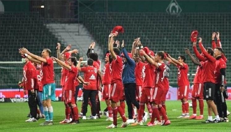 8th consecutive Bayern Munich title: 30th coronation in an empty stadium
