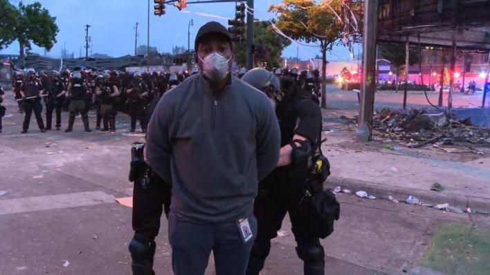 US journalists targeted during pepper spray riots and rubber bullets