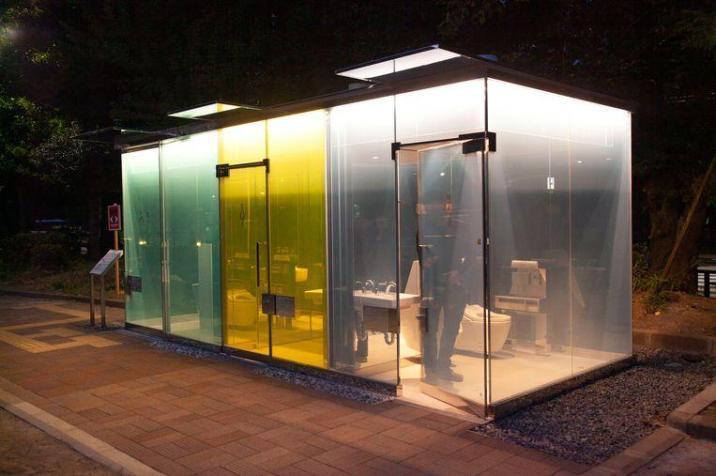 Tokyo launches transparent toilets