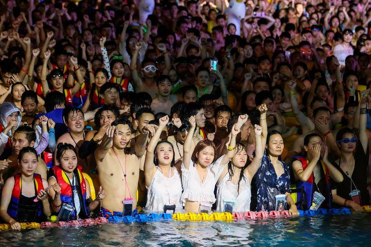 Large swimming party in Wuhan where COVID-19 first emerged