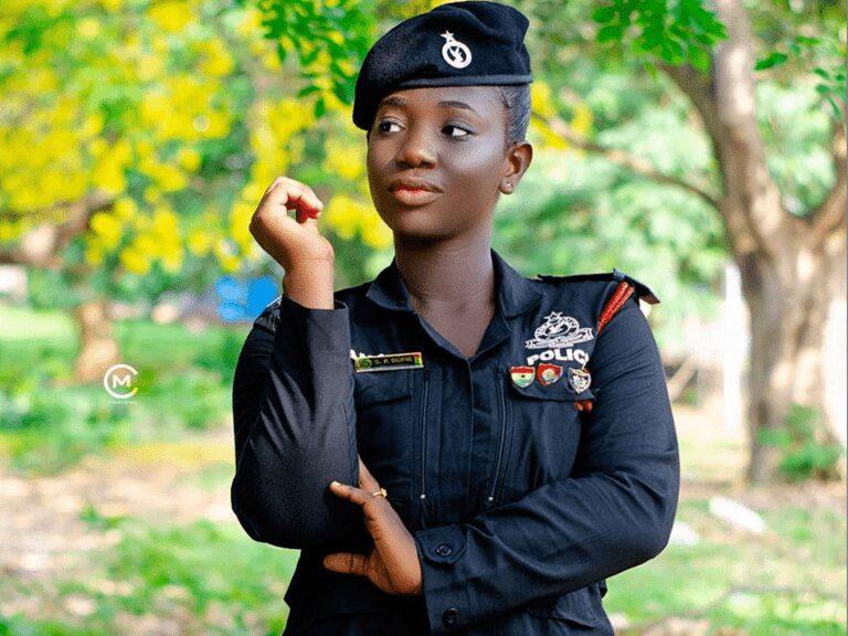 "Ama Serwaa Dufie ""most beautiful policewoman in Ghana"""