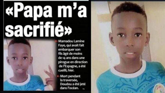 Doudou Faye, the 14-year-old child who died in the Mediterranean
