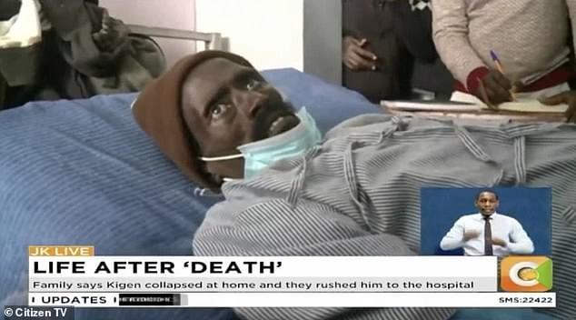 Peter Kigen exprienced life after 'death'