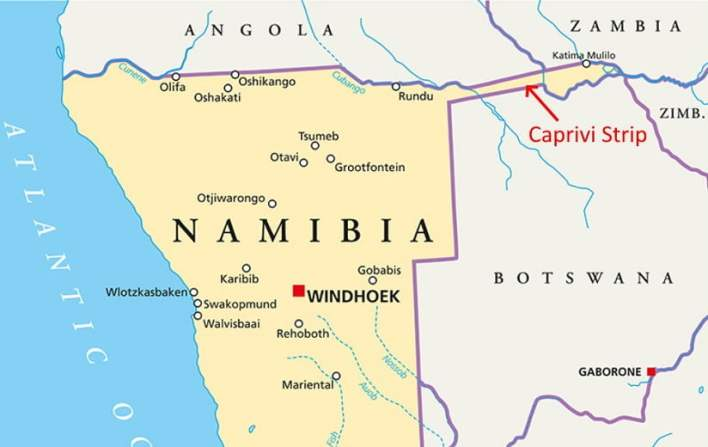The Namibia Caprivi Strip