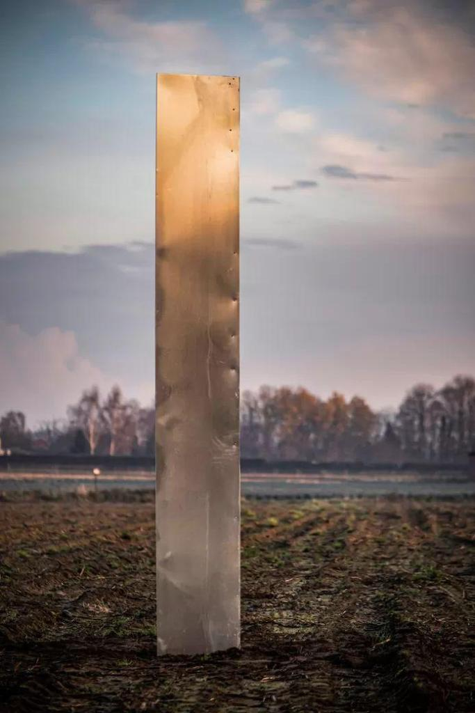 another mysterious monolith on the potato field in Baasrode