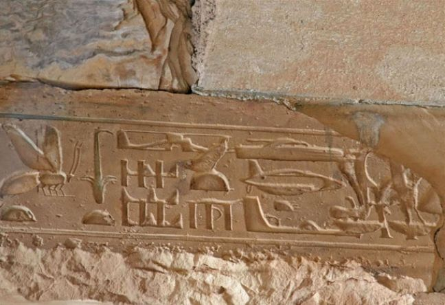 In Egypt, carved reliefs were found on Abydos' temple, showing authentic airships, ships, and helicopters.