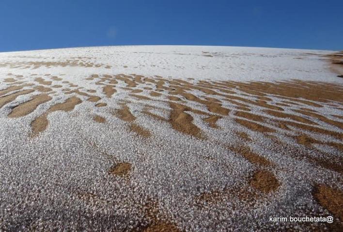 Breathtaking: Sahara desert covered in snow - Photos