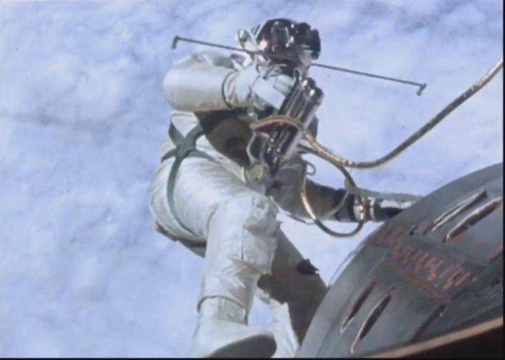 Edward Mukuka Nkoloso testing space suit