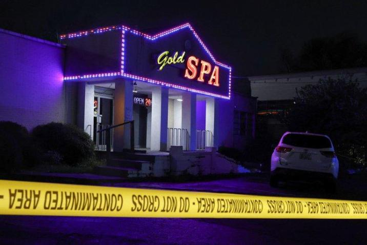 Gold Spa, one of the massage centers attacked