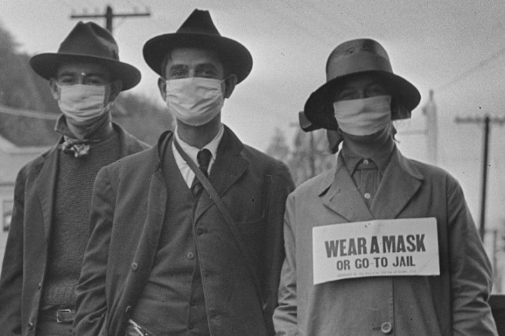 after all, 1918 pandemic people go to jail for not wearing a mask