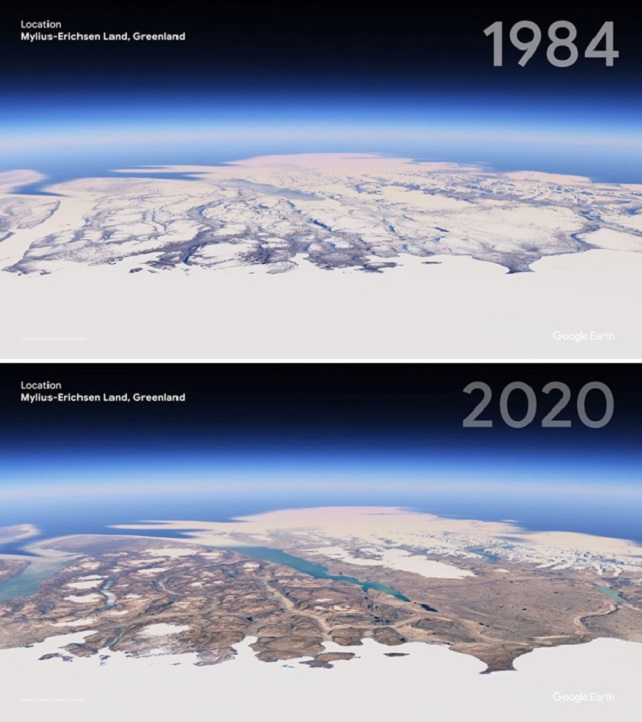 Greenland is now much less ice-covered