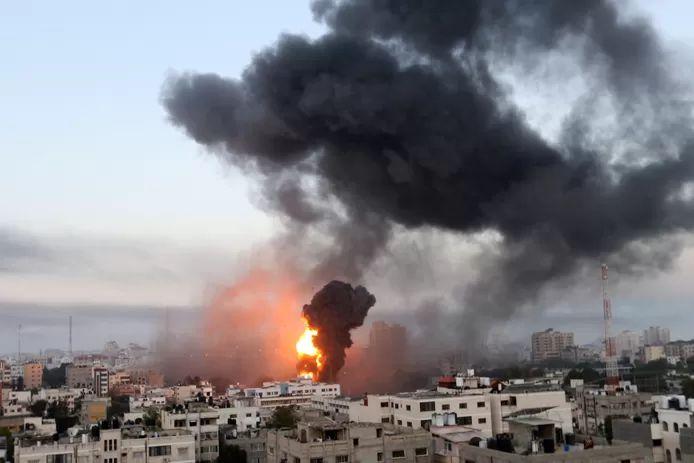 An Israeli air raid on Gaza.