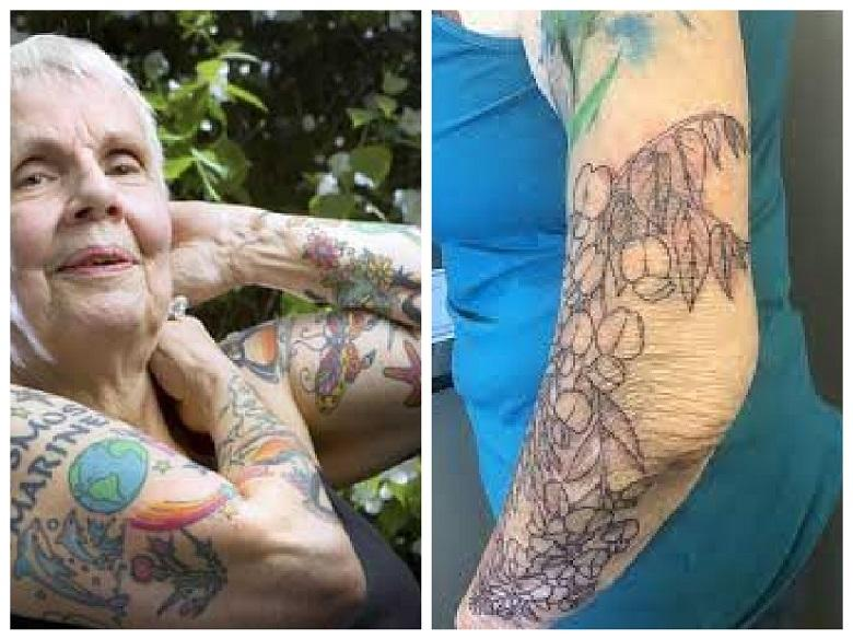 Tattoos on saggy skin! What happens to tattoos in old age