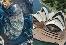 Six most famous buildings in the world from the aerial view