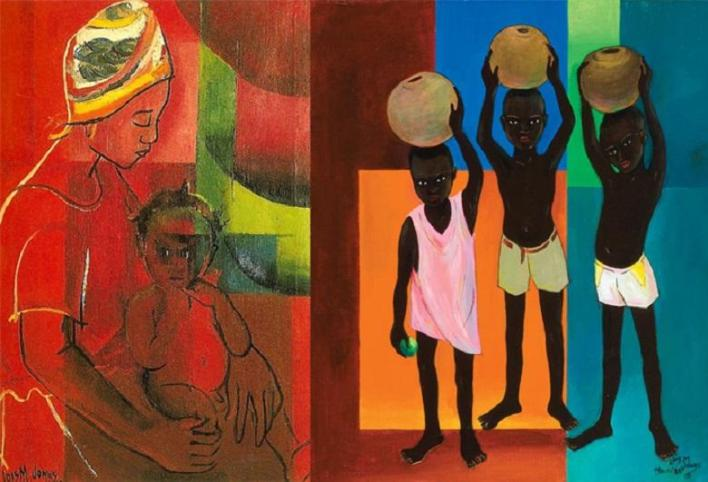 Lois combined the techniques of African art and European modernism