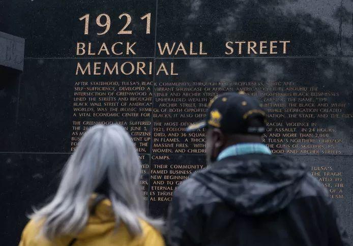 The 1921 Black Wall Street Memorial in Tulsa