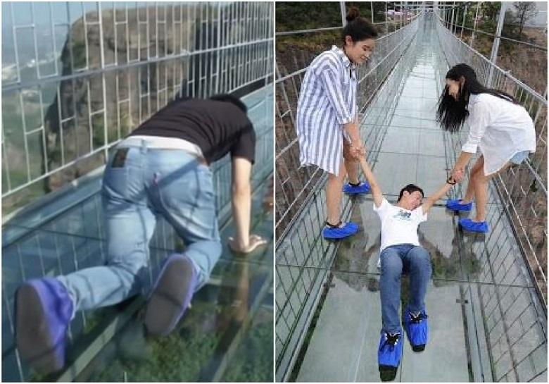 These observation decks, only the most courageous climb them