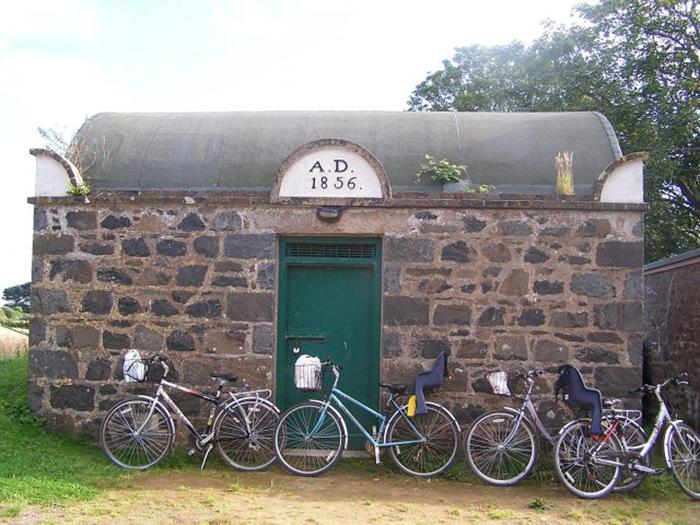 The prison on Sark was built in 1856