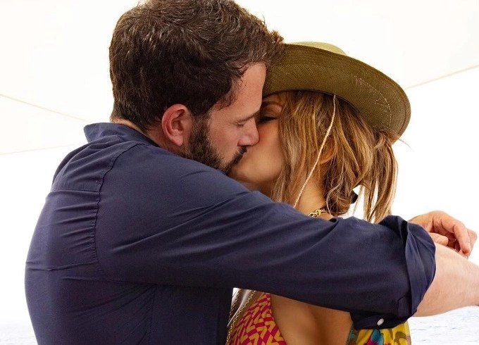 JLo and Ben Affleck confirm relationship with kiss photo on Instagram