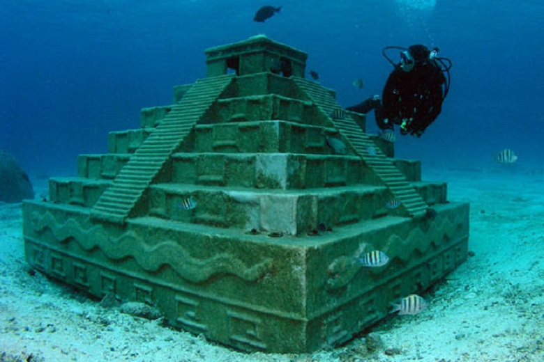 How ancient pyramids ended up underwater and where to see them
