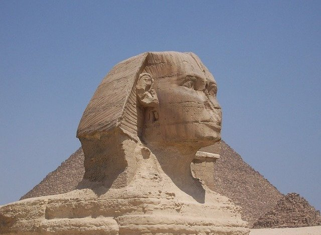 Why were the noses removed from Egyptian statues?