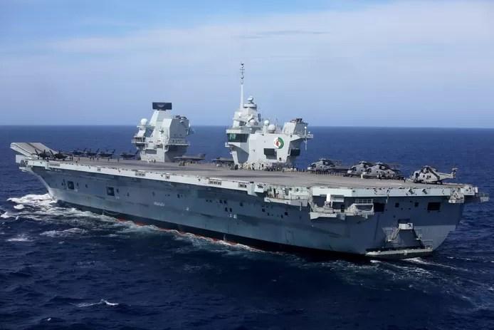 Threatening language in Chinese media about British naval passage