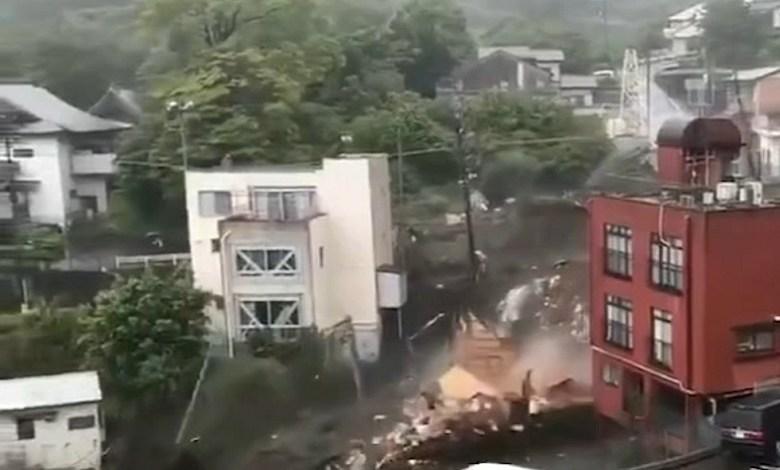Landslides in Japan, 19 people missing - videos