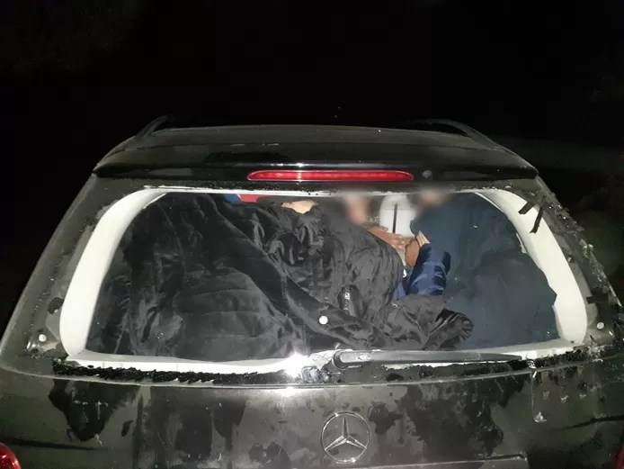 15 stowaways taken from vehicle in large-scale police crackdown on human smugglers