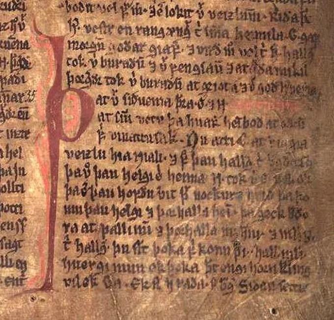 Saga 14th-century manuscript