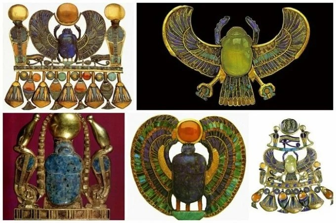 Technique and material of jewelry of Ancient Egypt.