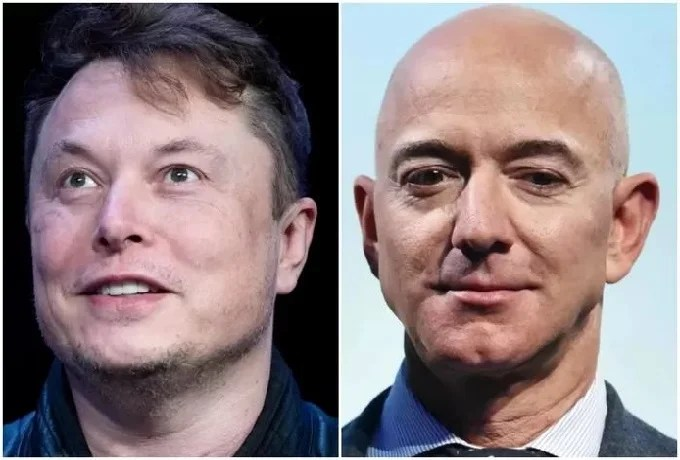The feud continues: Elon Musk lashes out at rival Jeff Bezos again