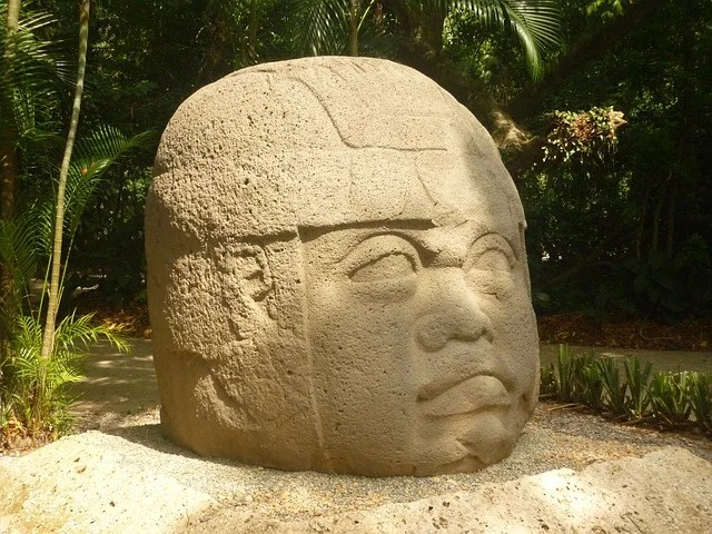 The giant heads of the Olmec culture