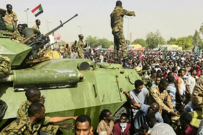 Armed forces response to reportedly Coup d'etat in Sudan