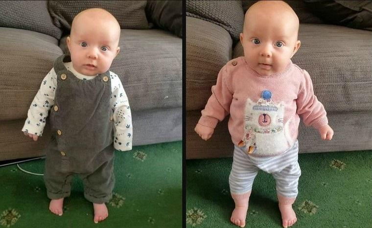 Strongest baby in the world? Lula can stand upright after 8-weeks