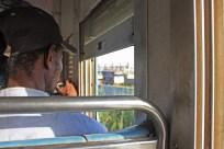 """Désormais, le seul train de passagers au Sénégal est le Petit train de banlieue, qui relie Dakar-Cyrnos et Rufisque, un trajet de 25 km. Une fois par jour, un train va jusqu'à Thiès / The only one passenger train operating today is the """"Petit train de banlieue"""", a commuter train between Dakar-Cyrnos and Rufisque, a 25 km trip. Once a day, a train goes to Thiès"""