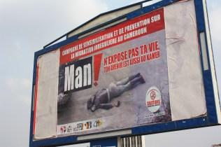 Une campagne d'affichage pour dissuader les Camerounais de chercher à s'exiler illégalement / A billboard campaign to deter Cameroonians to seek exile illegally