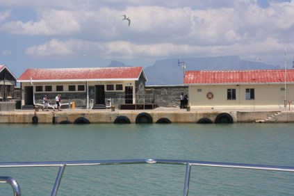 L'arrivée à Robben Island / Arriving in Robben Island