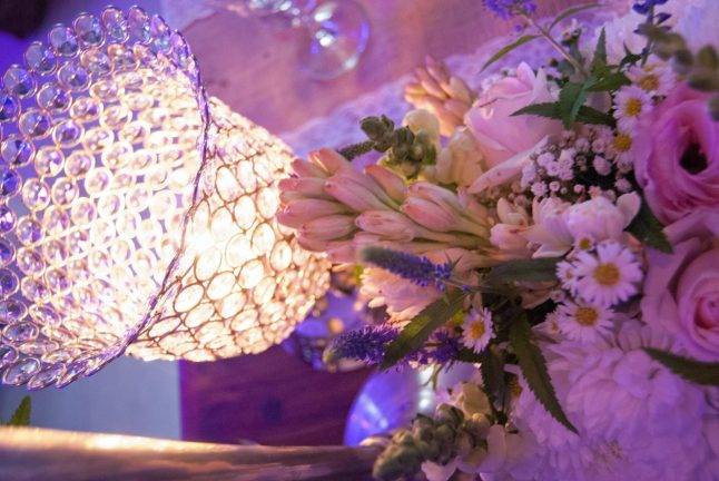 Function and events venue table decoration