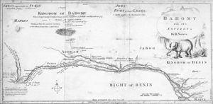 Carte du Dahomey