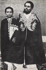 Hailé Sélassié et son Père le Ras Makonnen