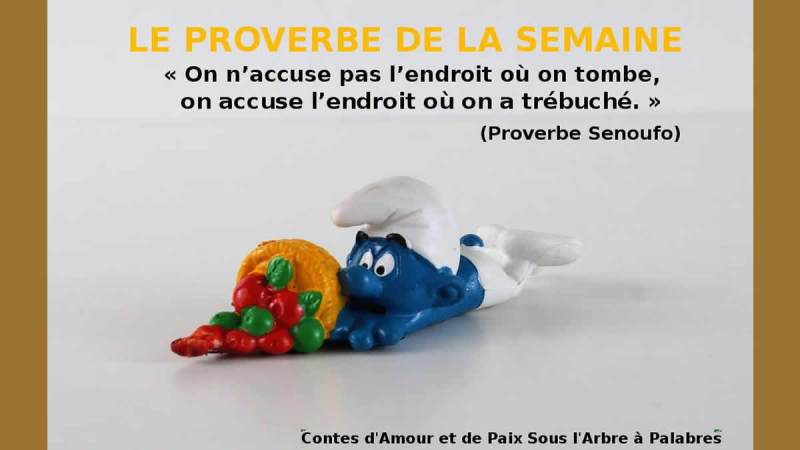 Proverbe Senoufo – L'endroit où on tombe