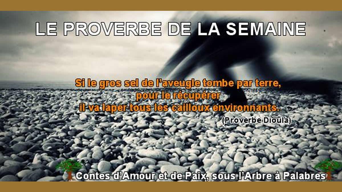 Proverbe Dioula – Le gros sel de l'aveugle