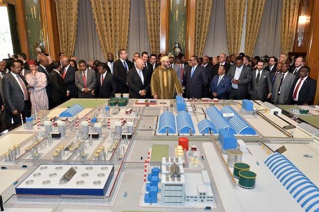 Mohammed VI en éthiopie