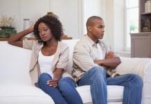Couple africain faché