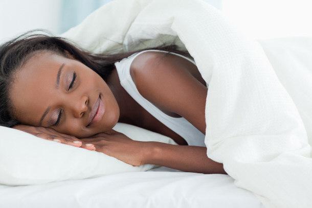 femme africaine qui dort